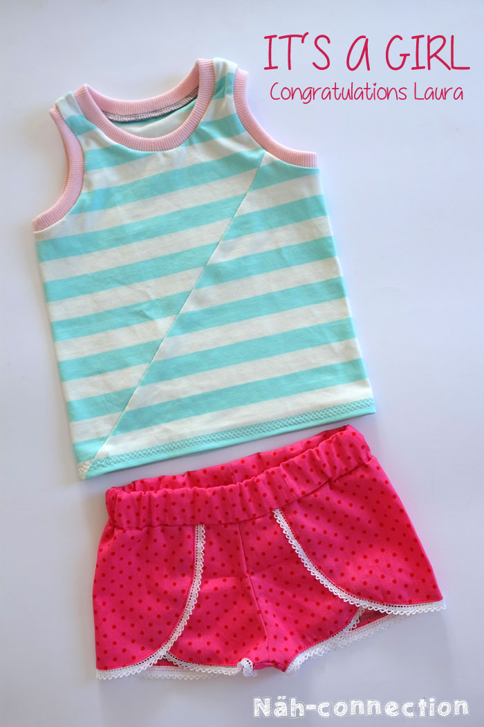 Laura's baby shower (Twisted Tank and Coachella Shorts for a little girl)