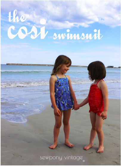 Cosi Swimsuit von sewpony vintage (Ebook in deutscher Übersetzung von Näh-Connection)