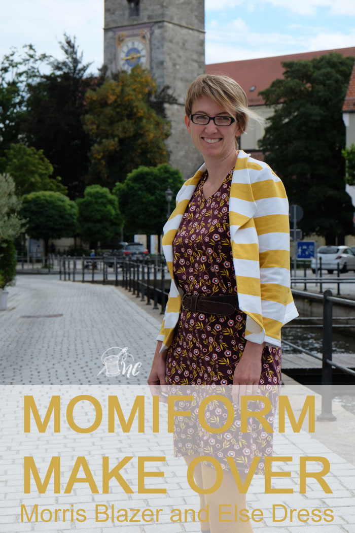 Momiform Make Over: Morris Blazer and Else Dress sewn by Näh-Connection