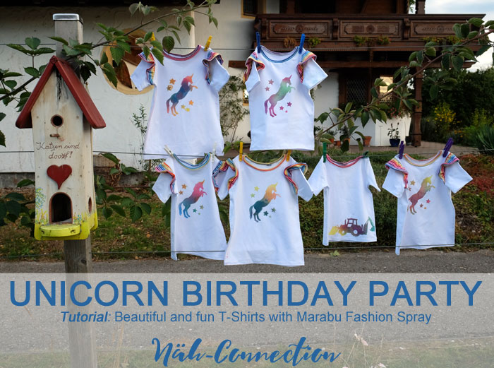 Unicorn Birthday Party with Marabu Fashion Art Spray (Näh-Connection)