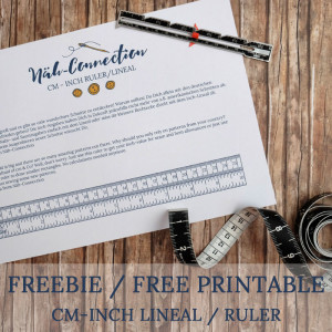 Freebie / free printable: inch-cm Lineal / ruler (Näh-Connection)