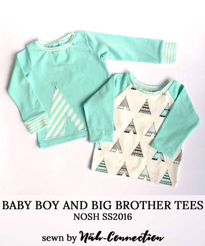 Tees for baby boy and his big brother - NOSH SS2016 sewn by Näh-Connection