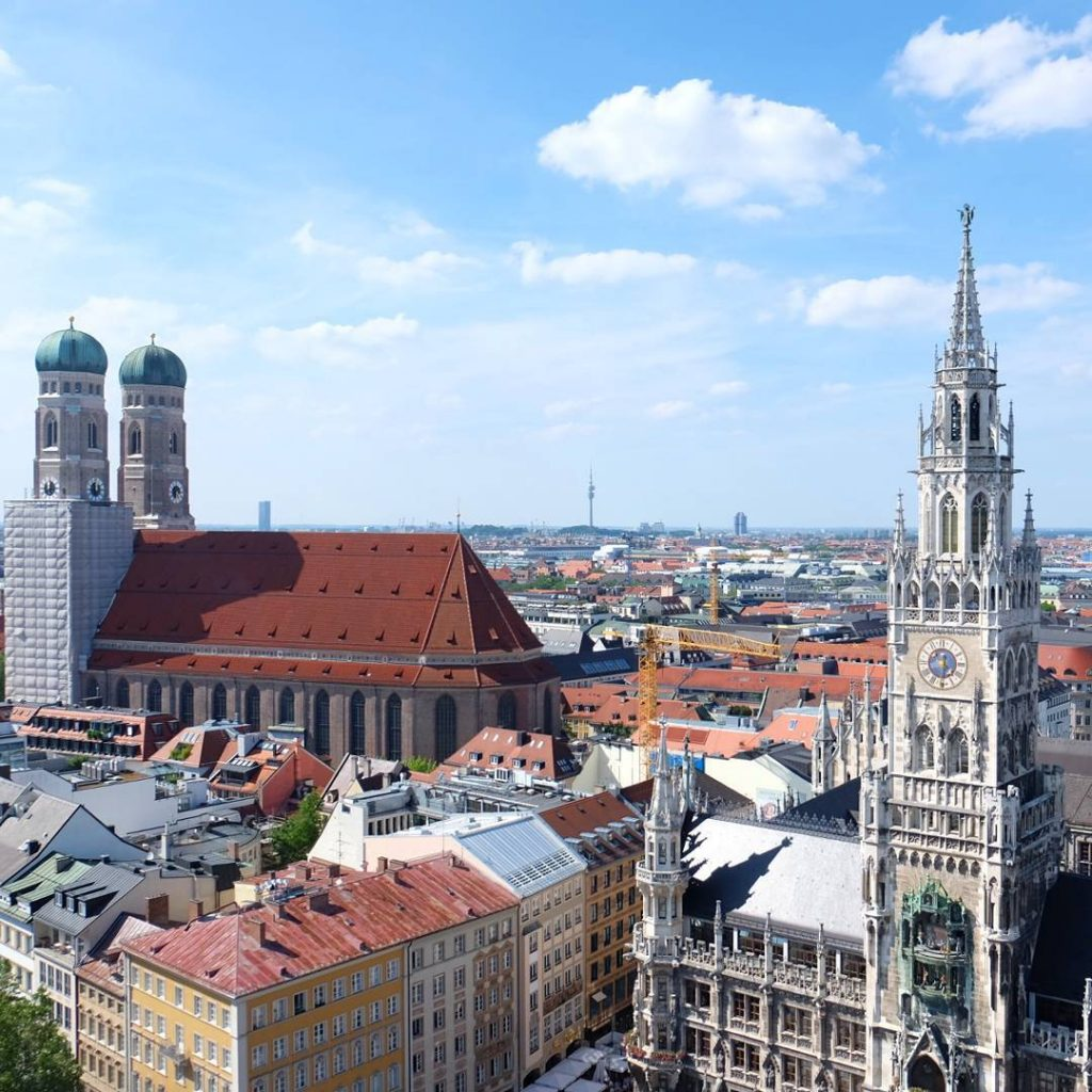 Such a beautiful day in munich sight from the alterpeter