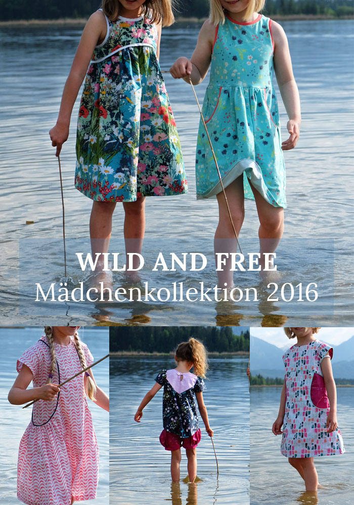 Wild and Free: Näh-Connection Mädchenkollektion Sommer 2016