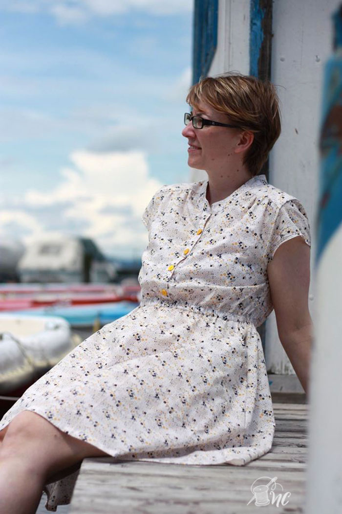 Marigold Dress by Blank Slate Patterns sewn by Nah Connection - women's dress sewing pattern