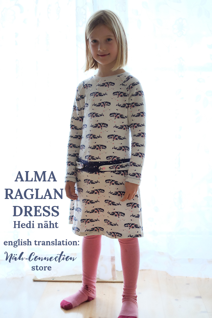 Alma Raglan Dress: english translation available at Näh-Connection store