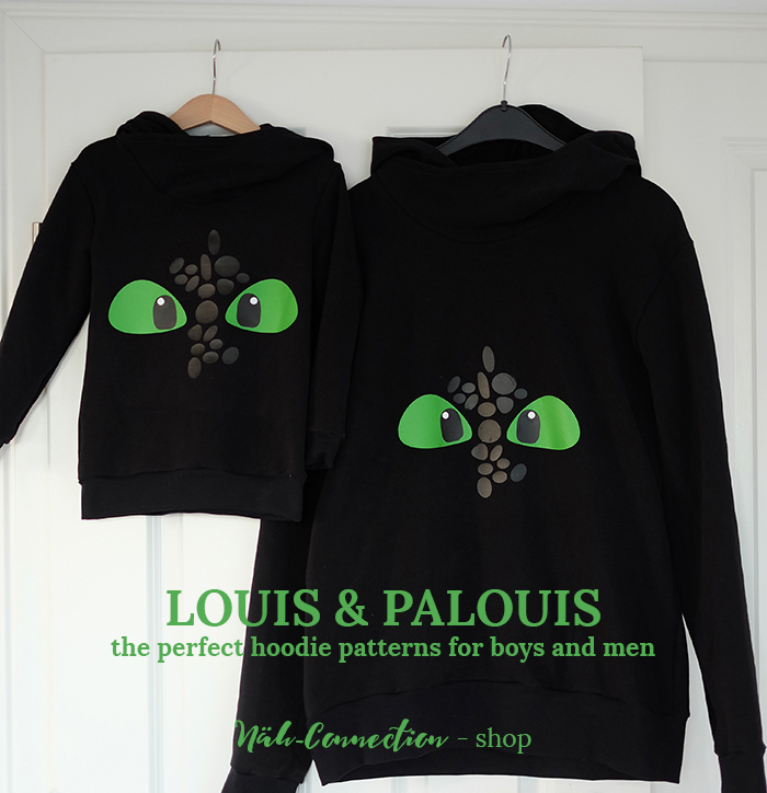 Louis and PAlouis: pdf patterns for hoodies for boys and men | Näh-Connection shop