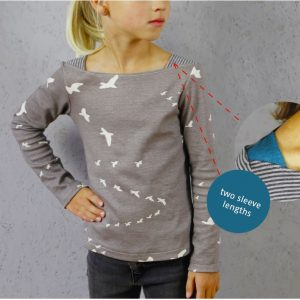 Marlene: german pdf pattern for a top with shoulder insets in english translation