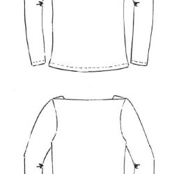 Marlene/Miss Marlene: german pdf pattern for a top with shoulder insets in english translation