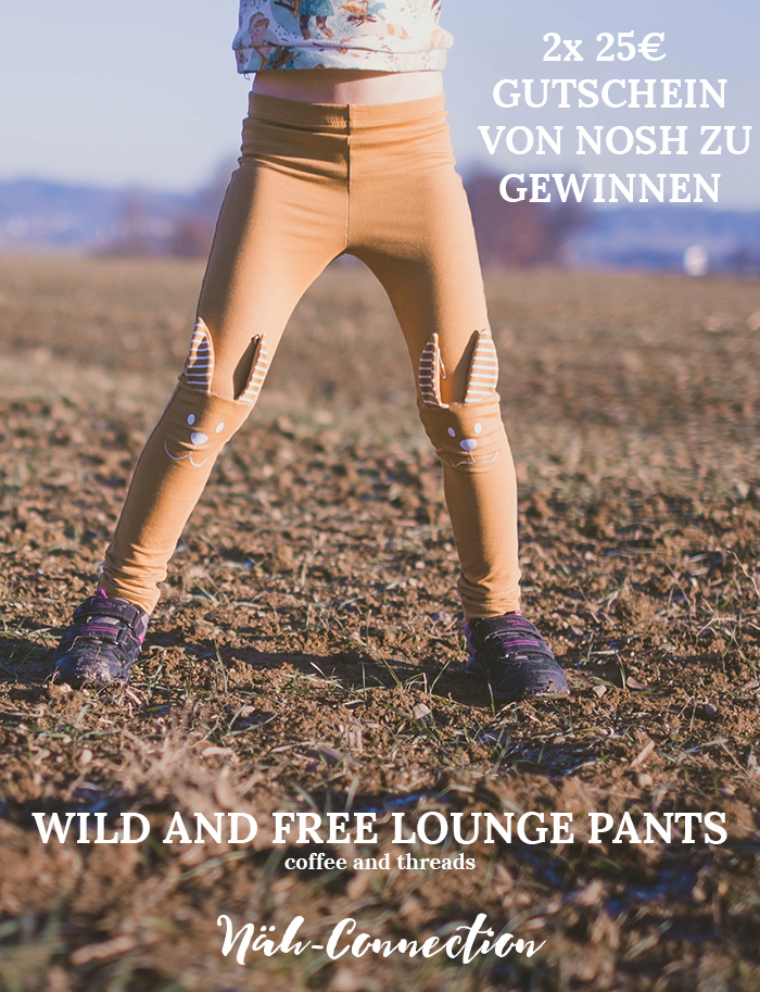 Näh-Connection: Wild and Free Lounge Pants in NOSH Nutmeg Denim Sweat