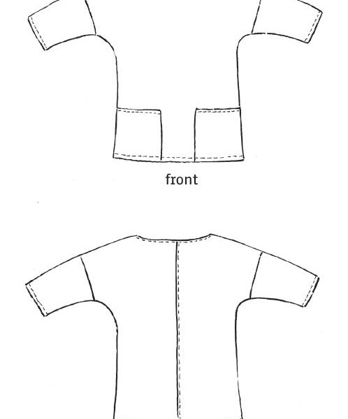 Näh-Connection Shop: Miss Aiko Pdf Pattern and Instructions (fritzi and schnittfreif) in english translation. Easy to sew and wear blouse with drop shoulders.