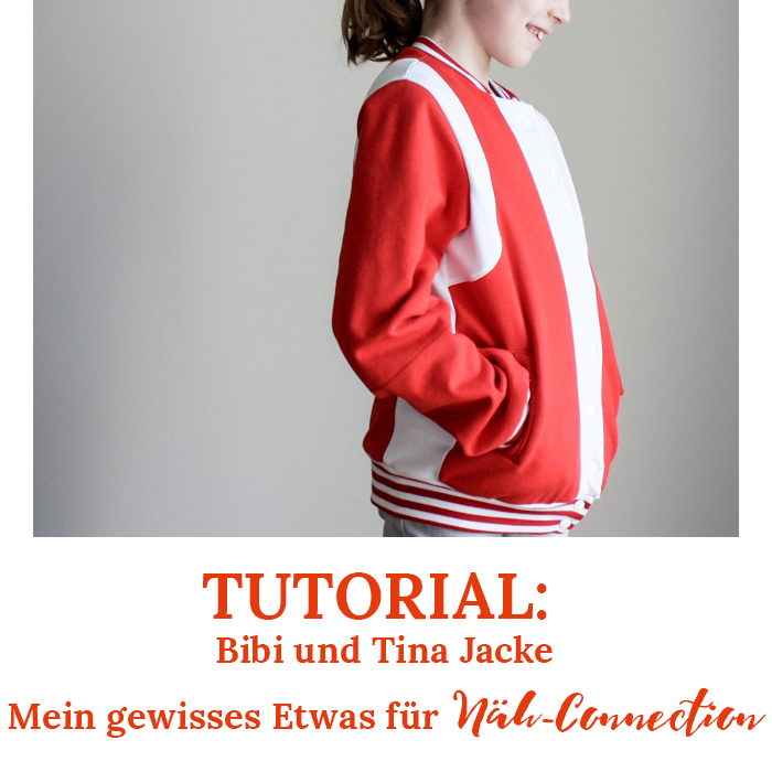 Näh-Connection | Tutorial: Bibi und Tina Collegejacke selbst genäht