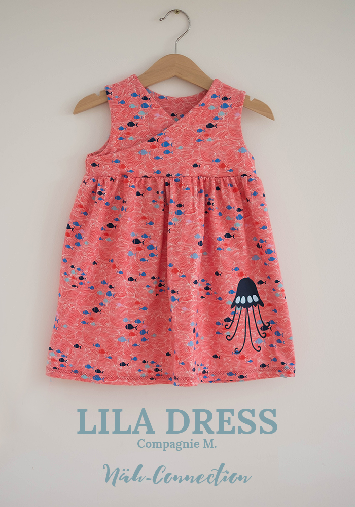 Näh-Connection: Lila Dress (Compagnie M.) in wunderschönem Lila Lotta On the Open Sea Jersey