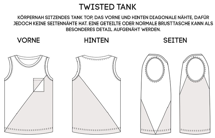 Näh-Connection: Twisted Tank von Titchy Threads (Ebook in deutscher Übersetzung) - Skizze