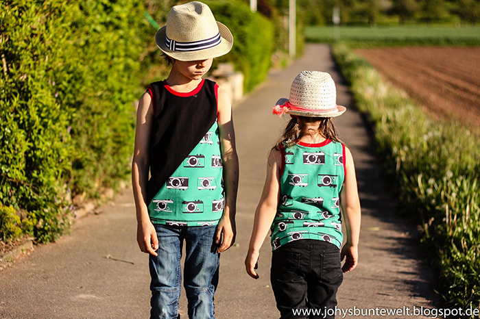 Näh-Connection | Boys will be Boys Schnittpaket: Twisted Tank von Titchy Threads genäht von Johys bunte Welt