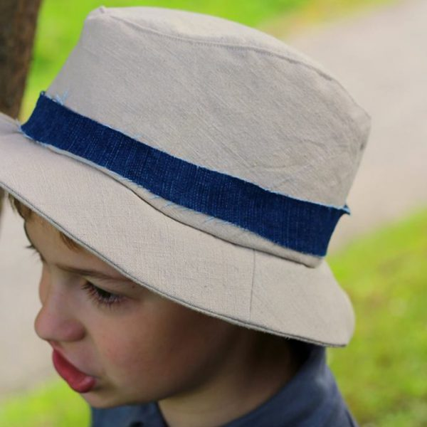 Näh-Connection | Boys will be Boys Schnittpaket: Fedora Hat von E & E Patterns von genäht von Madame Blanc