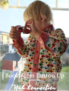 Bookworm Button Up by Blank Slate Patterns sewn by Näh-Connection