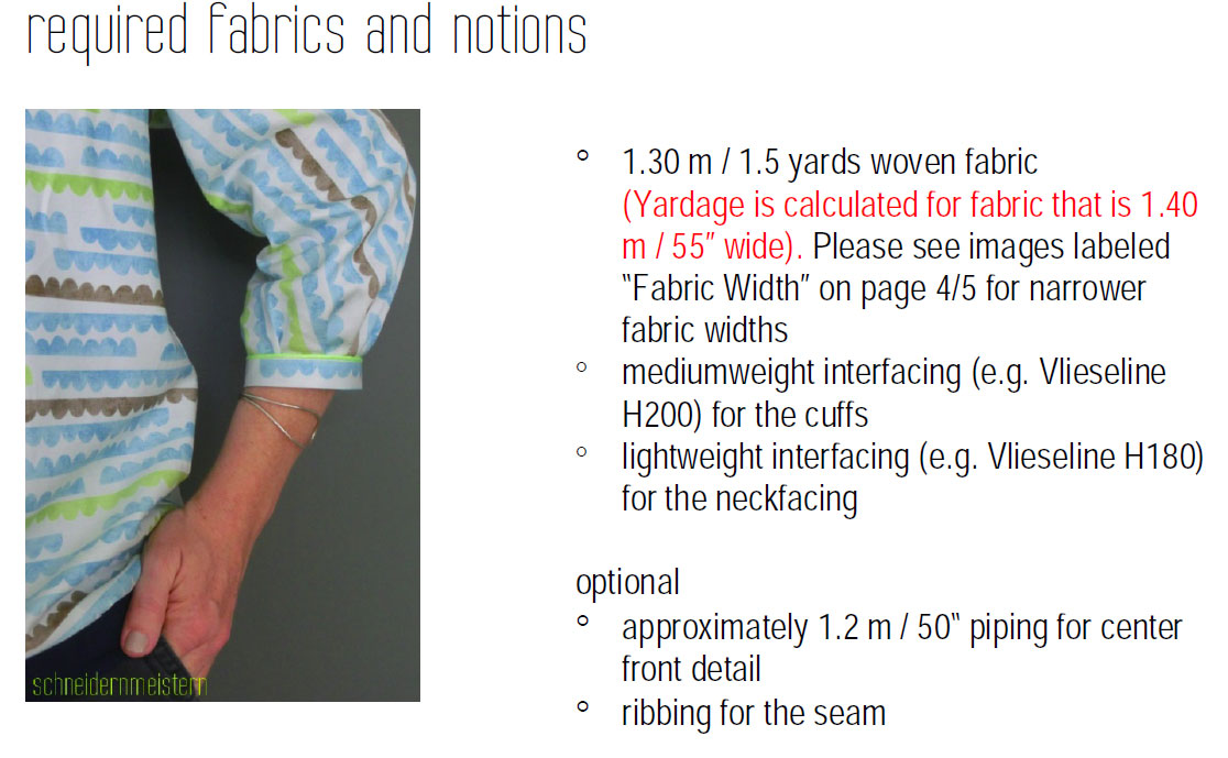 Twist (it) Blouse - english translation by Näh-Connection (fabric requirement)