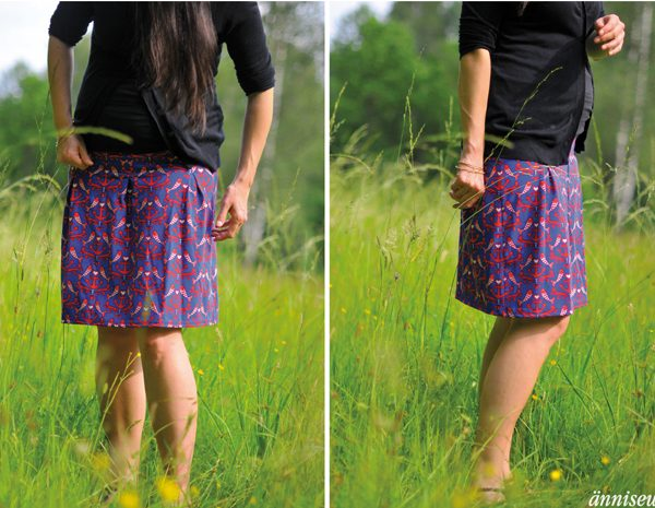 Näh-Connection Shop | Miss Antje Skirt PDF Pattern by fritzi and schnittreif in english translation