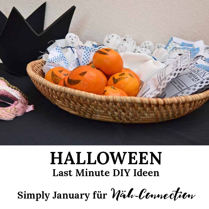 Simply January für Näh-Connection: Last Minute DIY-Ideen für ein gruselig schönes Halloweenfest