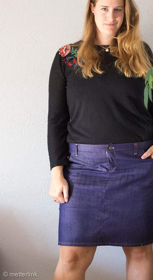 Näh-Connection: Sandbridge Skirt (Ebook von Hey June Patterns, auf Deutsch nur bei Näh-Connection); Designbeispiel von Metterlink