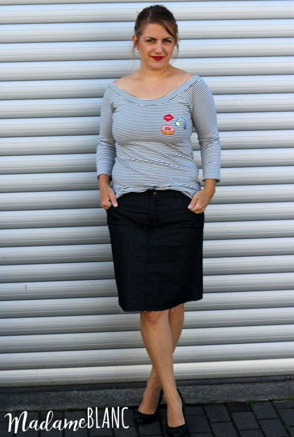 Näh-Connection: Sandbridge Skirt (Ebook von Hey June Patterns, auf Deutsch nur bei Näh-Connection); Designbeispiel von Madame Blanc