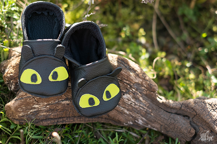 Näh-Connection: Wild Things Baby Shoes (pattern by Twig and Tale), Toothless version | (Ebook von Twig and Tale), Ohnezahn-Variante