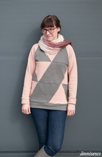 Geodesic Sweater (Ebook von Blueprints for Sewing, auf Deutsch nur bei Näh-Connection): Designbeispiel von ännisews