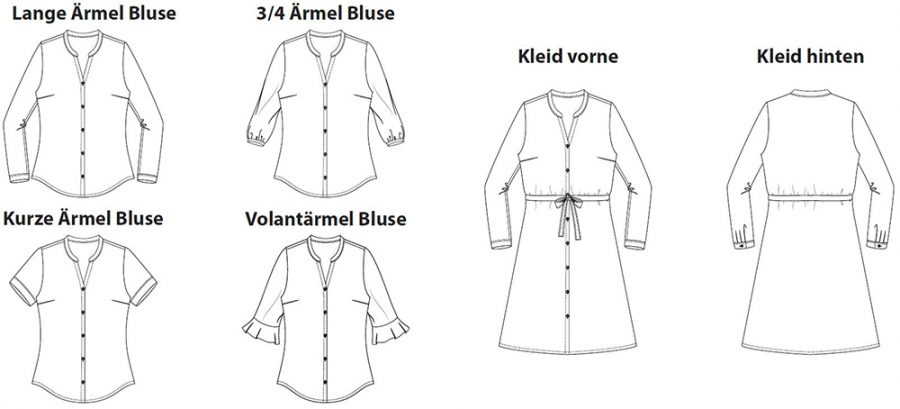 Bonn Shirt and Dress (Ebook von Itch to Stitch, auf Deutsch bei Näh-Connection): Illustration