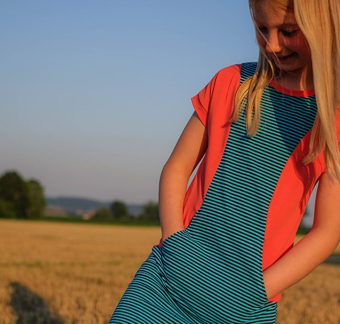 Aubrey Dress by ModKid, sewn by Näh-Connection, perfect dress for older girls